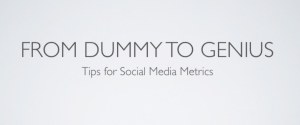 Tips for Social Media Metrics from Leslie Poston
