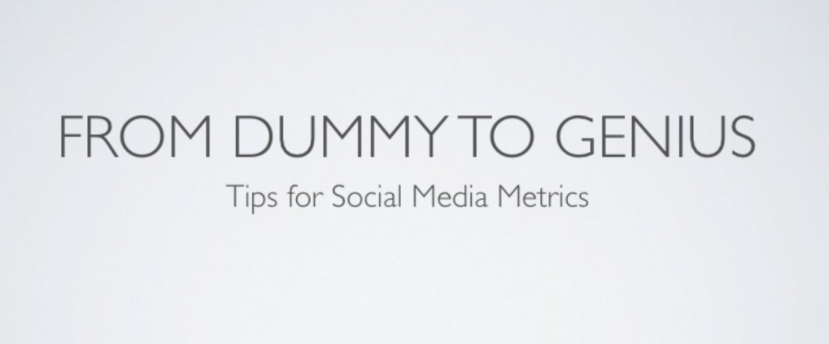 Tips for Social Media Metrics from Leslie Poston